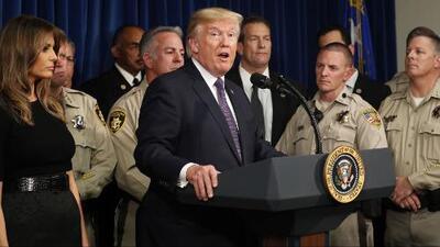Donald Trump visita a los sobrevivientes de la masacre de Las Vegas