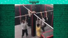 Impresionantes ejercicios de barras y además coordinados