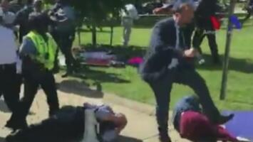 Violento enfrentamiento frente a la casa del embajador de Turquía en Washington
