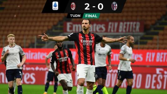 Ibrahimovic comanda con par de goles el debut del AC Milan en la Serie A