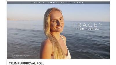 ¿Votantes 'fake'?: la campaña de Trump usa modelos como si fueran seguidores en su publicidad de Facebook