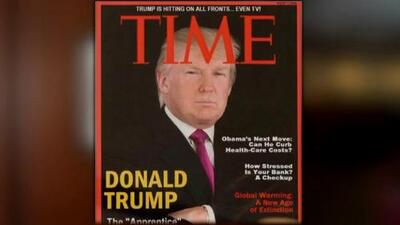 Revista Time le pide a Trump que retire de sus clubes una portada falsa en donde él es protagonista
