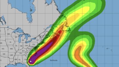 Vientos sostenidos con fuerza de tormenta tropical golpean la costa de Georgia