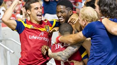 Colombiano Olmes García salvó la noche para Real Salt Lake al marcar el gol del triunfo 2-1 sobre Sporting KC