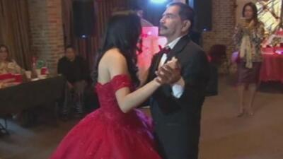Estaba al borde de la muerte, pero salió del hospital para cumplir el sueño de su hija y bailar con ella en sus 15 años