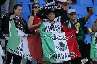 El colorido de la fiesta mexicana en Mendoza previo al partido contra Argentina