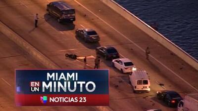 'Miami en un Minuto': tres personas murieron en un accidente de tráfico en el puente Julia Tuttle