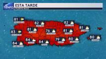 Lunes con actividad de lluvia pasajera en Puerto Rico
