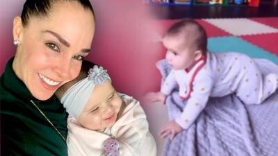 Sharis Cid le enseña a gatear a su nieta Alessia: la bebé ya cumplió seis meses