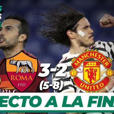 Resumen | Manchester United cae 3-2 ante AS Roma, pero avanza a la Final