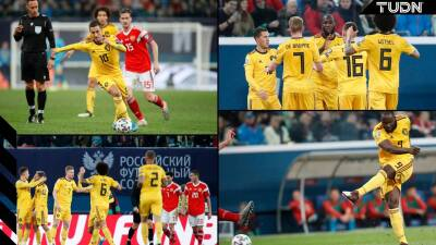 Bélgica apaleó a Rusia 4-1 y cierra la clasificación en primer lugar