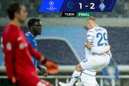 Con gol charrúa y diluvio, el Dynamo Kyiv supera al Gent