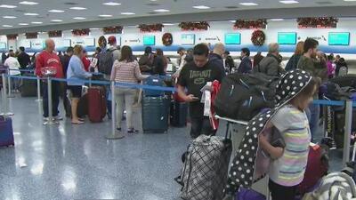 Ola de frío deja 118 vuelos cancelados y 15 retrasados en el Aeropuerto Internacional de Miami