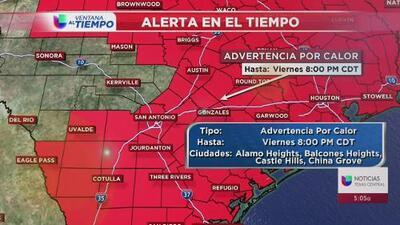 No habrá tregua, el calor seguirá intenso en el centro de Texas este fin de semana