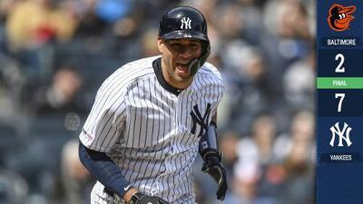 ¡Muestran las armas! Yankees aplastan a Orioles a base de jonrones y gran picheo