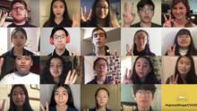 El poderoso mensaje de 19 estudiantes en California durante la cuarentena por el coronavirus