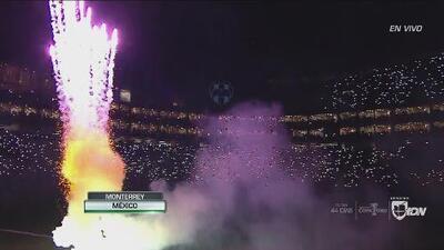 ¡Formidable espectáculo para recibir a los 'Gladiadores' en el Estadio BBVA Bancomer!
