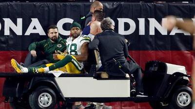 Randall Cobb sufrió una contusión pulmonar en la derrota ante los Arizona Cardinals