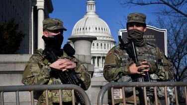 Washington es una 'fortaleza': la toma de posesión de Biden bajo la mirada de un virtual ejército de ocupación