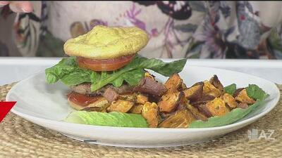 Sazón casero: hamburguesa de carne de pavo y pan de aguacate