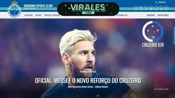 Cruzeiro le da la bienvenida a Lio Messi