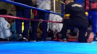 Boxeador venezolano Yeison Cohen sufre derrame cerebral al ser noqueado