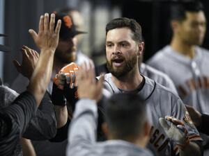 En fotos: Brandon Belt y el relevo de Dodgers le dan el triunfo a los San Francisco Giants