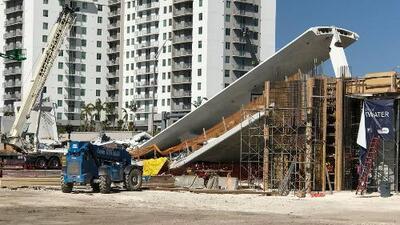 Así se construyó el puente peatonal que colapsó en Miami