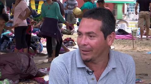 Mikel Hernández, el líder cubano de la nueva caravana migrante que avanza por Chiapas con la esperanza de cruzar a EEUU
