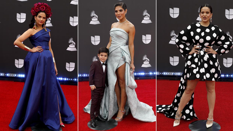 Alejandra Espinoza (con un pequeño galán) enfrentó su look de Latin GRAMMY a los de Natalia Jiménez y Rosalia - Univision