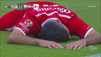 ¡Increíble! Gigliotti erró el gol que acercaba a Toluca a la clasificación