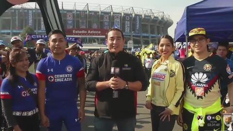 ¡A caballito! Carrera entre los aficionados de Cruz Azul y América por el campeonato