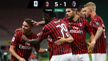 Goleada del Milan al Bologna que ilusiona a sus fans con Europa League