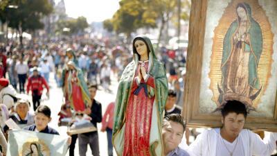 Millones de devotos celebran a la virgen de Guadalupe en Ciudad de México (fotos)