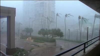 Así se ve y escucha el huracán María mientras impacta con fuertes vientos a Puerto Rico