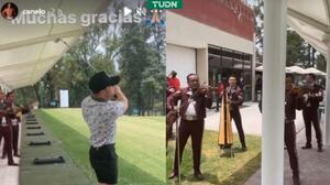 Canelo Álvarez celebra con golf y mariachi triunfo ante Saunders