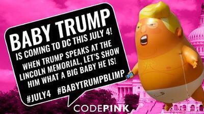 'Baby Trump' también estará en el desfile del 4 de julio en Washington DC, pero no podrá volar
