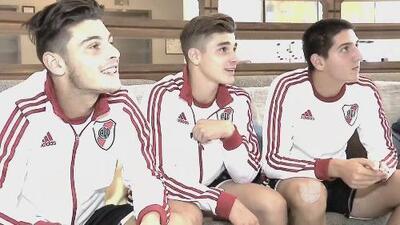 River Plate se hizo presente en la Dallas Cup y sus jugadores recibieron una linda sorpresa