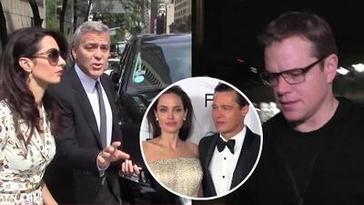 Matt Damon, George Clooney y más famosos reaccionan a la separación de Brangelina