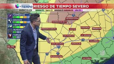 Prevén un riesgo de tiempo severo en el centro de Texas a mitad de semana