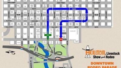 Conozca la ruta del Desfile del Rodeo Houston