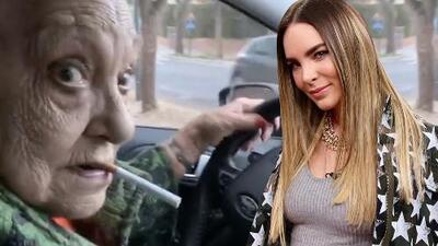 Así sufrió Belinda con su abuela fumando al volante (y sin licencia, ni gasolina, ni luces, ni cinturón)