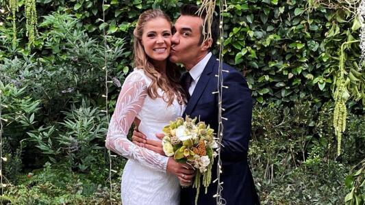 Las románticas imágenes de la boda de Adrián Uribe y Thuany Martins