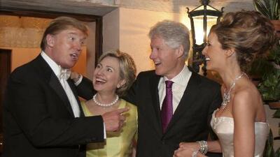 Trump y Clinton cara a cara esta noche por primera vez en 11 años
