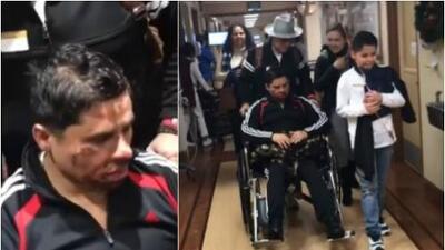 Larry Hernández abandona el hospital y está listo para recibir 2018 en casa