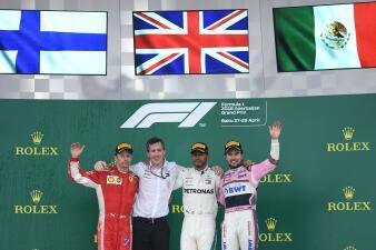 En fotos: 'Checo' Pérez logró podio y Hamilton ganó en el GP de Azerbaiyán