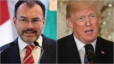 """Videgaray sobre declaraciones de Trump: """"No es admisible que todos los días por pretextos o motivos diferentes haya agresiones"""""""