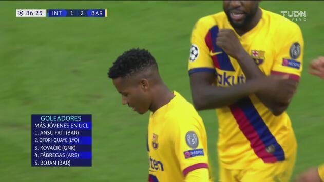 ¡Gol lapidario para el Inter! Ansu Fati marca el tanto de la ventaja del Barcelona