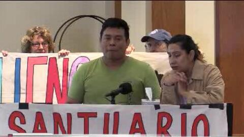 Protestas para evitar la deportación de una familia guatemalteca