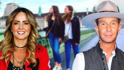 Andrea Legarreta se fue de vacaciones con sus hijas a Londres y dejó en México a Erik Rubín